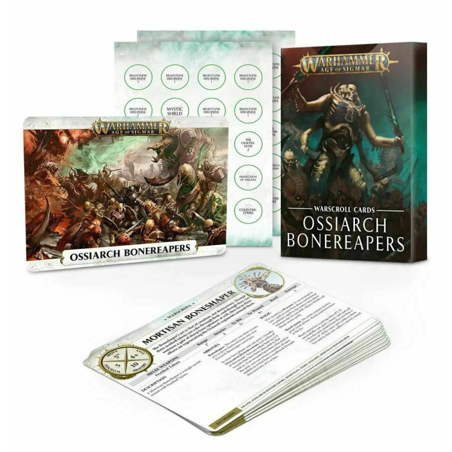 Warhammer WARSCROLLS: OSSIARCH BONEREAPERS New
