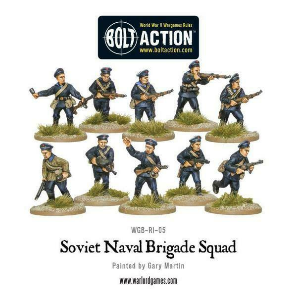 Bolt Action Soviet Naval Brigade Squad New