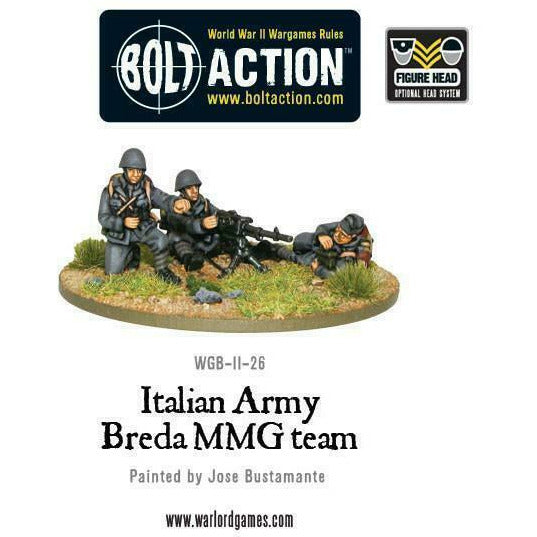 Bolt Action Italian Army Breda MMG New