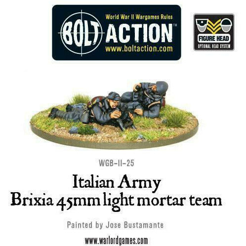 Bolt Action Italian Airborne 45mm Brixia Mortar New