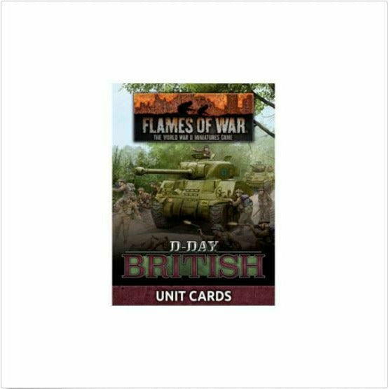 Flames of War D-Day: British Unit Cards New - TISTA MINIS