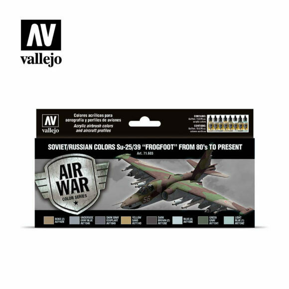 Vallejo Soviet Russian Colors SU-25/39 Frogfoot from 80's to Pres Paint Set New