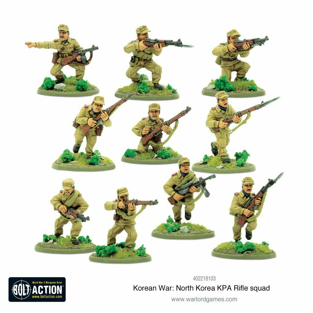 Bolt Action Korean War: North Korean KPA Rifle squad New