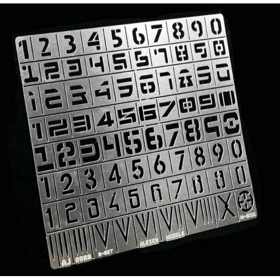 Warhammer Military Numbers Airbrush Stencil | TISTAMINIS
