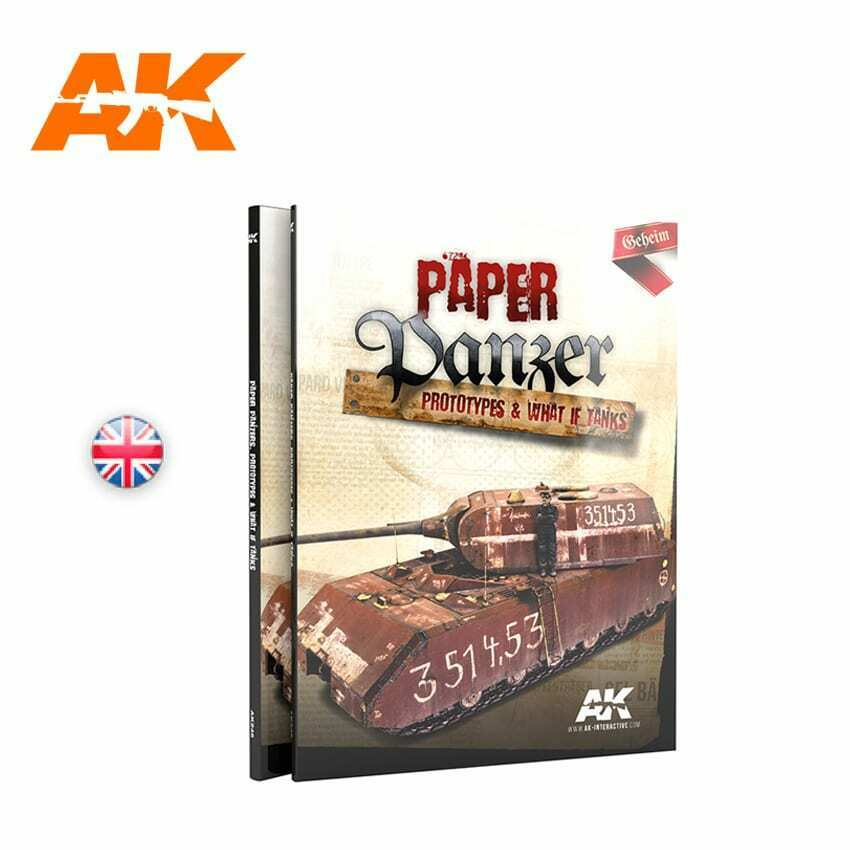 AK Interactive PAPER PANZER, PROTOTYPES & WHAT IF TANKS Book New - TISTA MINIS