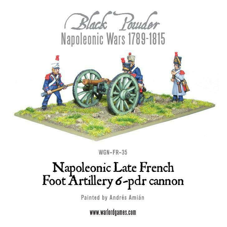 Black Powder French Napoleonic 6 pdr Foot Artillery New