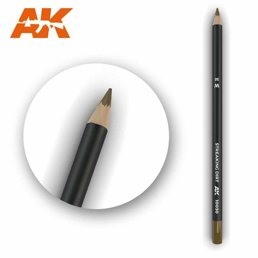AK Interactive Watercolor Pencil Streaking Dirt New - TISTA MINIS