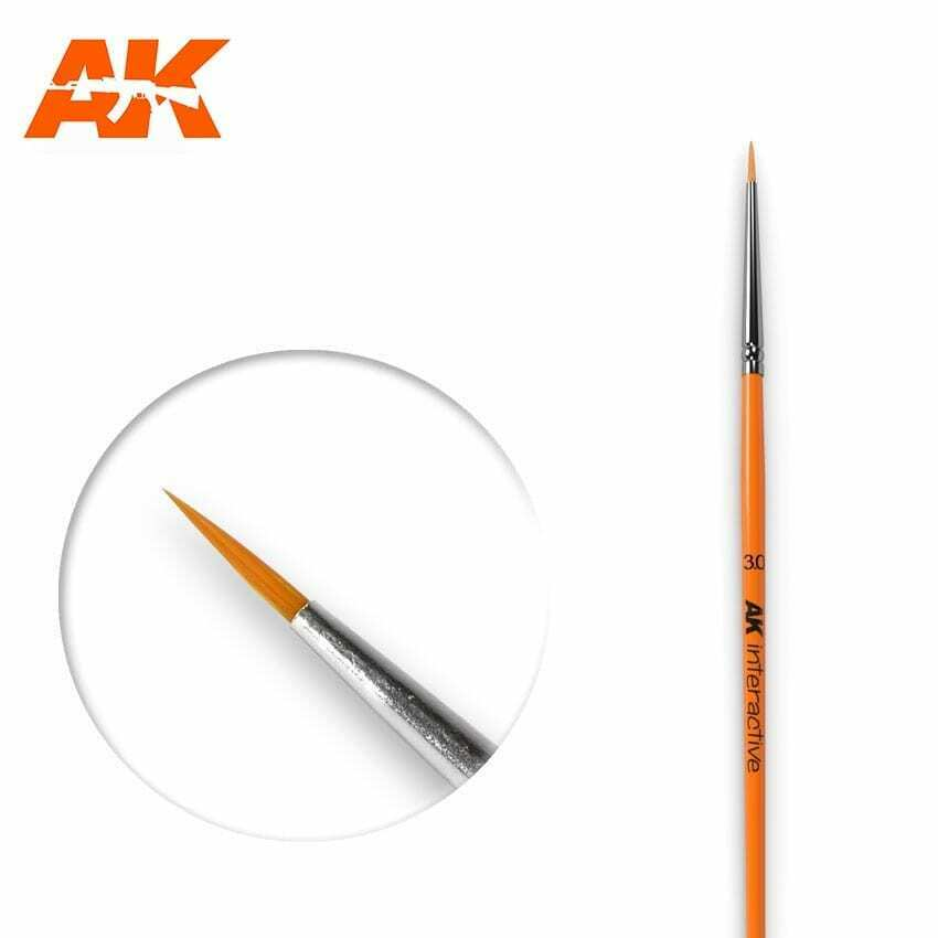 AK Interactive Round Brush 3/0 Synthetic New