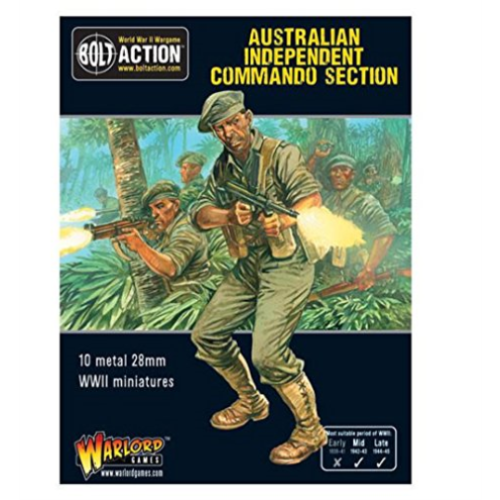 Bolt Action Australian Independent Commando Section New - 402211202 - TISTA MINIS