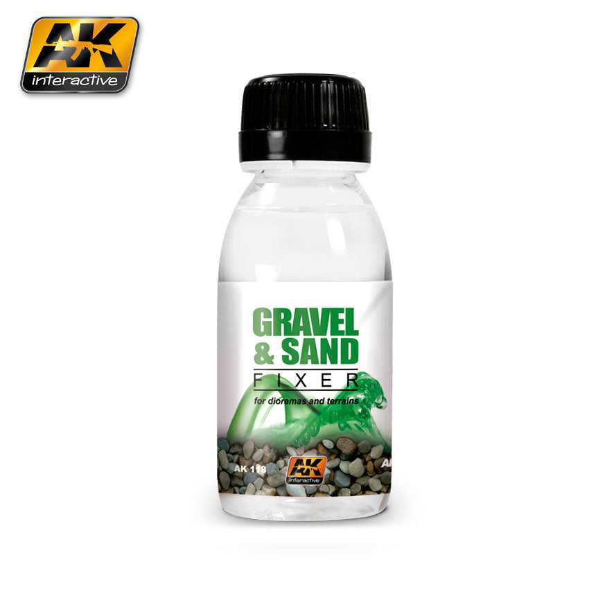 AK Interactive Weathering Gravel and Sand Fixer 100 ml New (AK118)