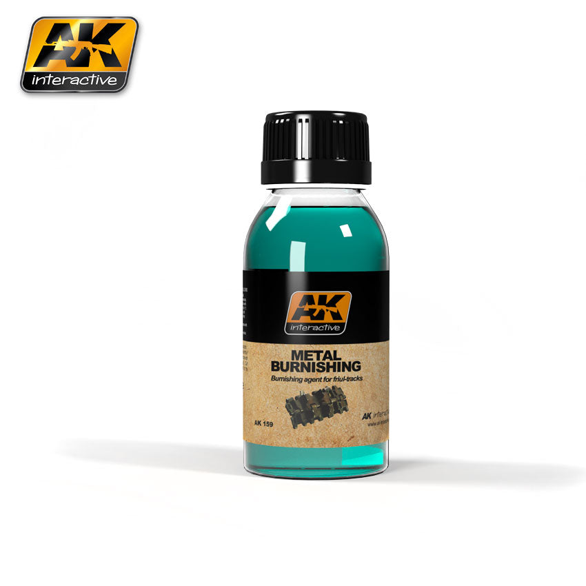 AK Interactive Weathering Metal Burnishing Fluid 100 ml New (AK159)