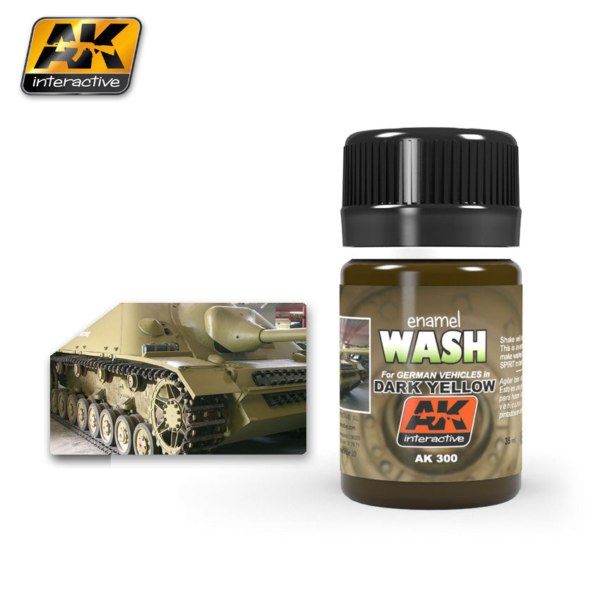 AK Interactive Weathering Dark Yellow Wash 35 ml New (AK300)