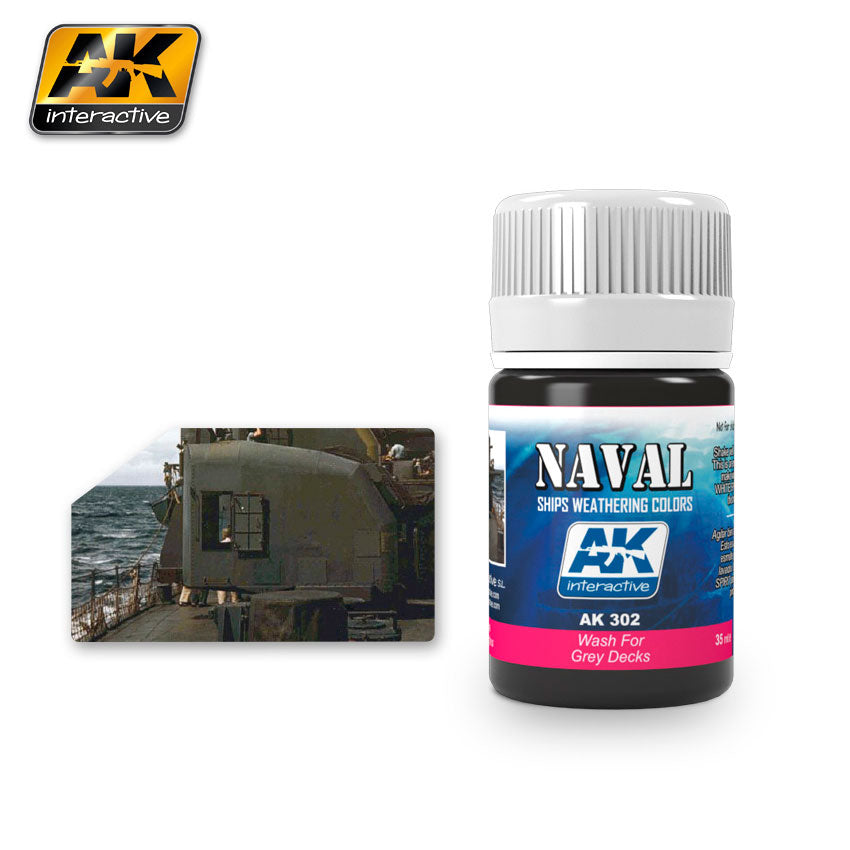 AK Interactive Weathering Wash for Grey Decks Naval 35 ml New (AK302)