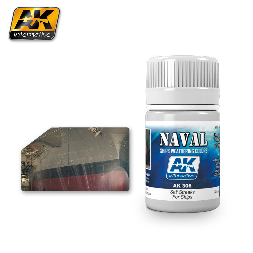AK Interactive Weathering Salt Streaks for Ships Naval 35 ml New (AK306)