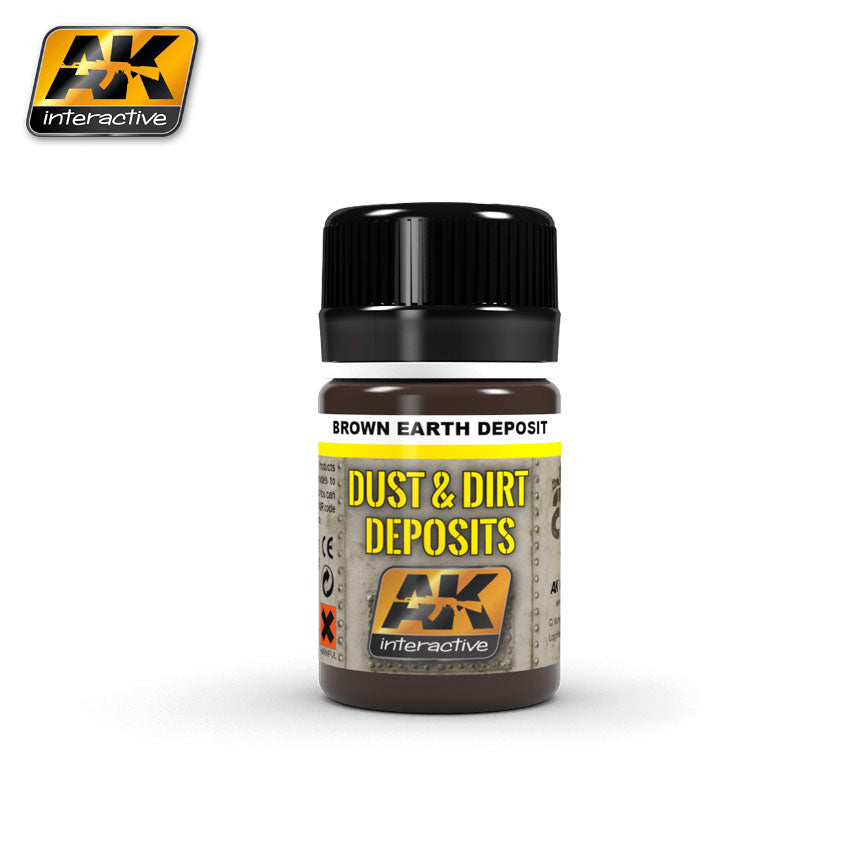 AK Interactive Weathering Brown Earth Deposit 35 ml New (AK4063)