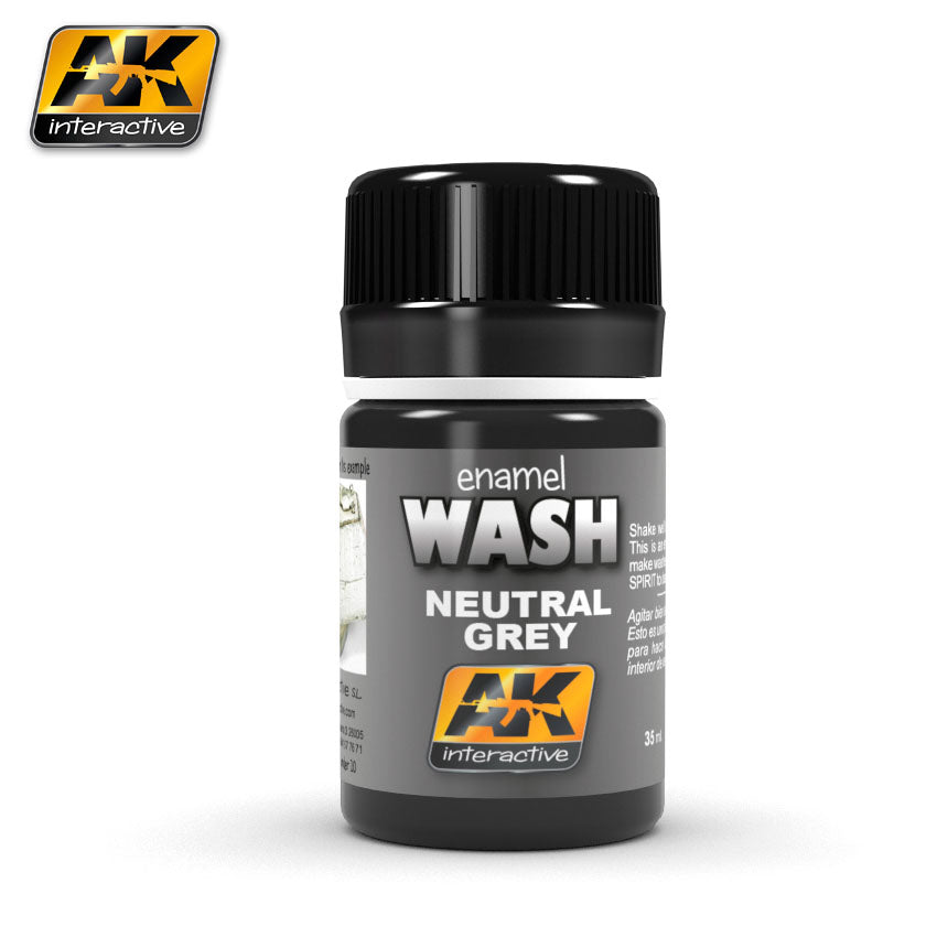 AK Interactive Weathering Neutral Grey Gray Wash 35 ml New (AK677)