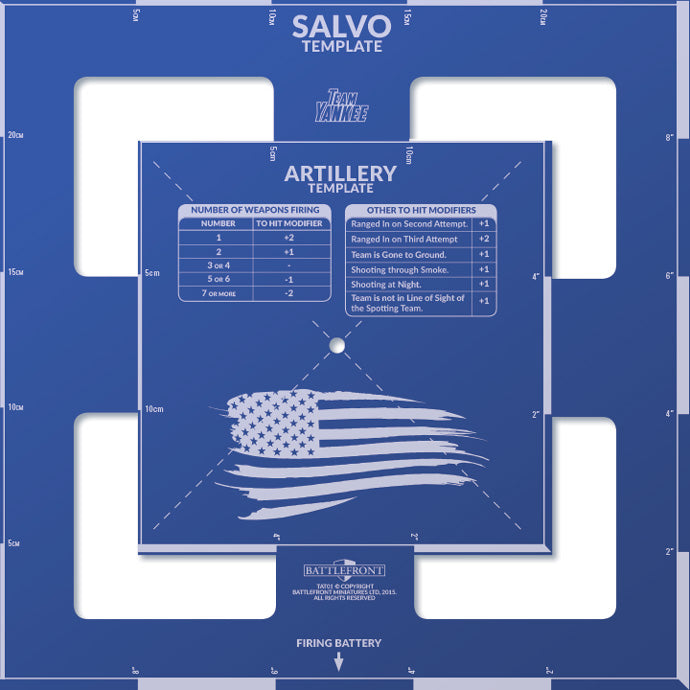 Team Yankee US Salvo Template New