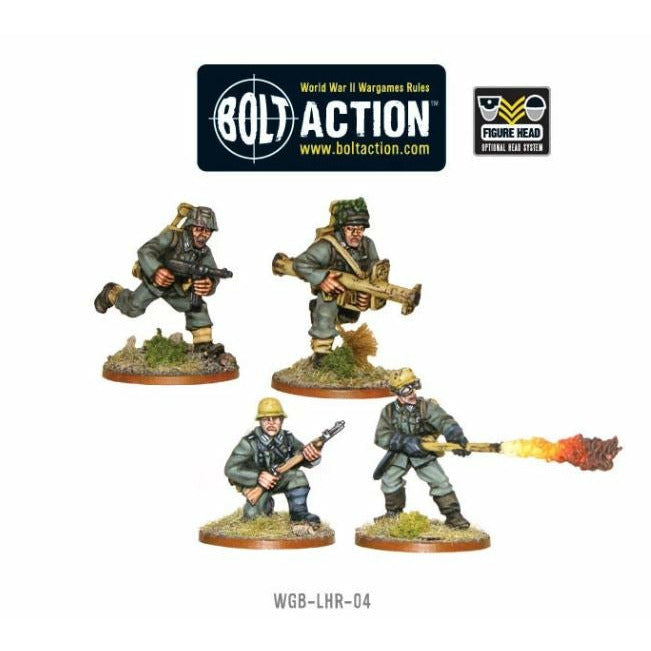 Bolt Action German Heer Pioneer Panzerschrek And Flamethrower Teams New | TISTAMINIS