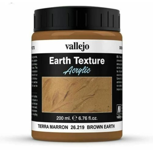 Vallejo Brown Earth 200ml Texture New - TISTA MINIS