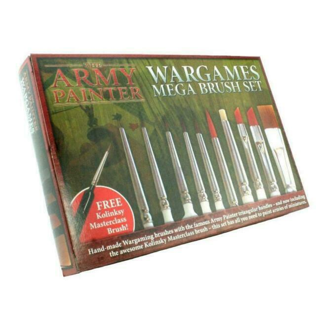 The Army Painter Wargames Mega Brush Set New - Tistaminis