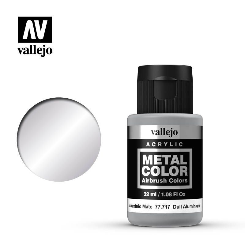 Vallejo Metal Colour Paint Dull Aluminium 32 ml (77.717) - TISTA MINIS