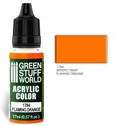 Green Stuff World Acrylic Color FLAMING ORANGE New - Tistaminis