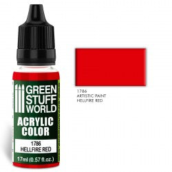 Green Stuff World Acrylic Color HELLFIRE RED New - Tistaminis
