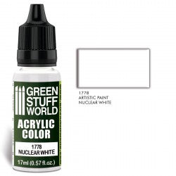 Green Stuff World Acrylic Color NUCLEAR WHITE New - Tistaminis