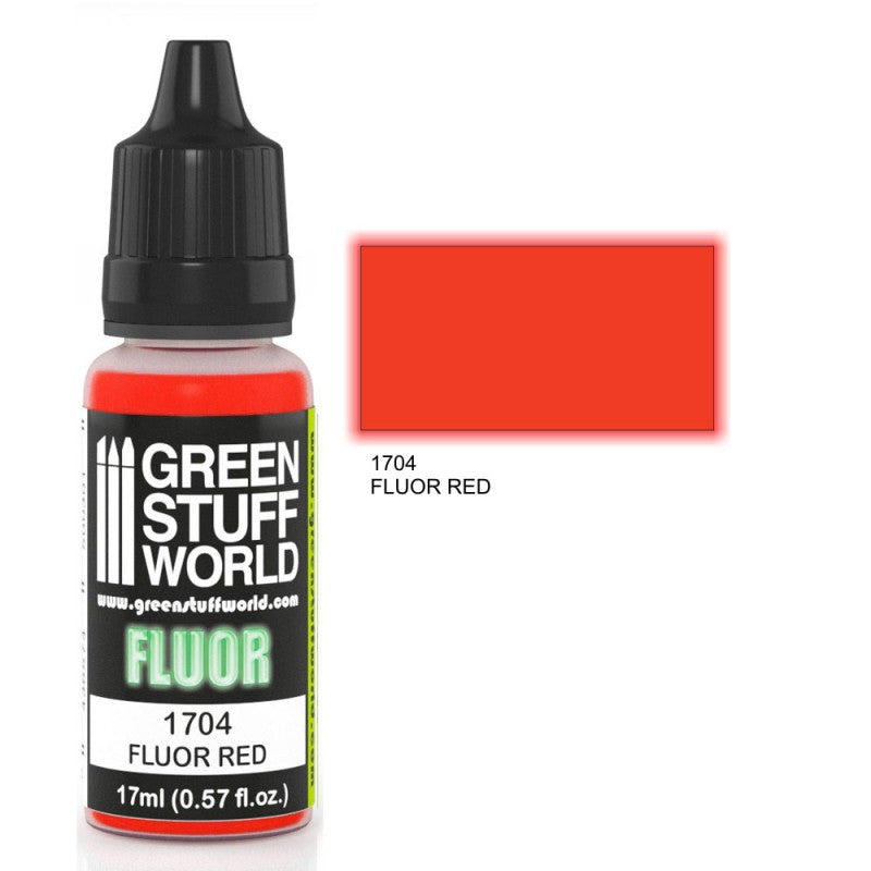 Green Stuff World Fluor Paint RED New - Tistaminis