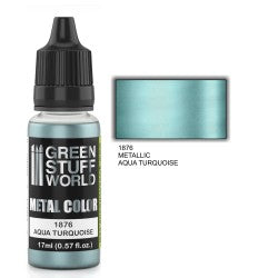 Green Stuff World Metallic Paint AQUA TURQUOISE New - Tistaminis