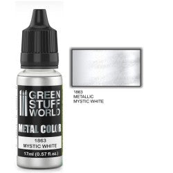 Green Stuff World Metallic Paint MYSTIC WHITE New - Tistaminis