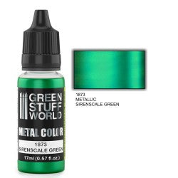 Green Stuff World Metallic Paint SIRENSCALE GREEN New - Tistaminis