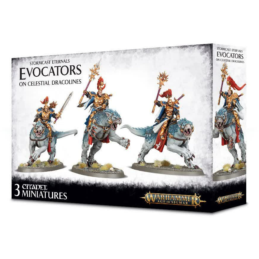 Warhammer Stormcast Eternals Evocators on Celestial Dracolines New | TISTAMINIS