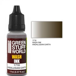 Green Stuff World Wash Ink ANDALUSIAN EARTH New - Tistaminis