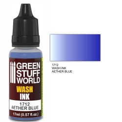Green Stuff World Wash Ink AETHER BLUE New - Tistaminis