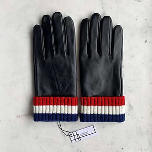 Men's Striped Cuff Gloves