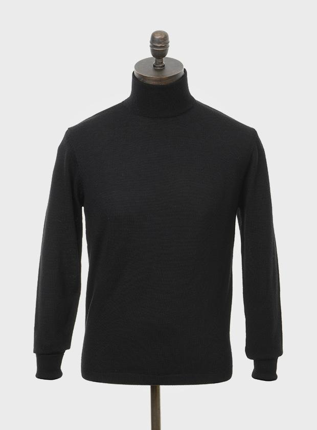 Curtis Knitted Roll Neck Black