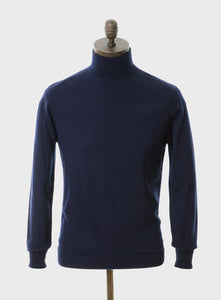 Curtis Knitted Roll Neck Navy