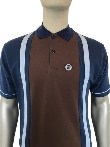 Cut and Sew Stripe Pique Polo TR/8472 Electric