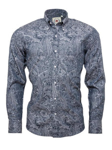 Jaquard Paisley Long Sleeve Shirt
