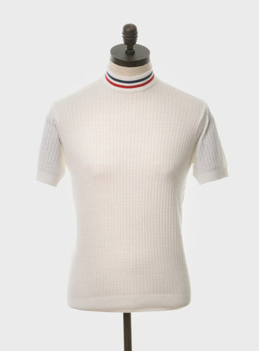Nolan Knitted Polo Off White
