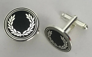 Laurel Cufflinks Black/Silver