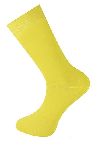 Plain Ankle Sock Lemon