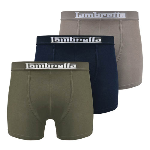 Boxer Shorts Navy/Charcoal/Khaki 3 Pack