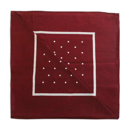 Burgundy/White Polka Dot Neckerchief
