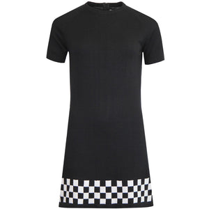 Nicole Checkerboard Panel Knitted Dress