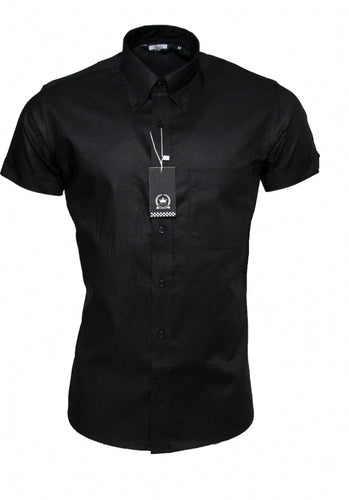 Oxford Shirt Black SS