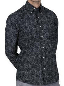 Paisley Long Sleeved Shirt Black