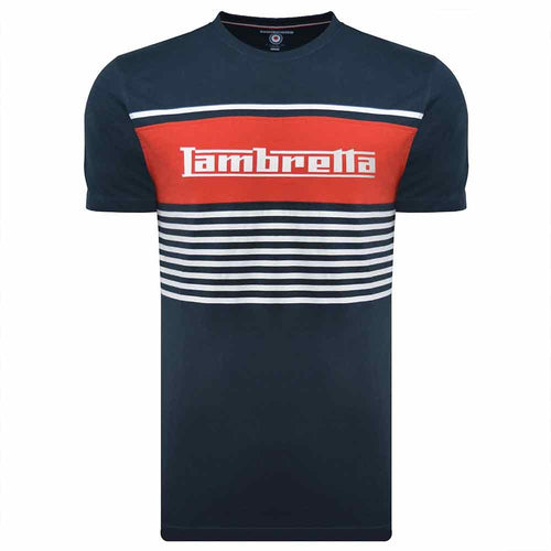 Panel Stripe Tee Navy/Red