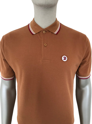Tipped Pique Polo Golden Tan
